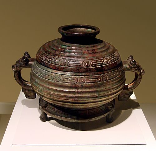 Bronze Zhou Cooking Vessel