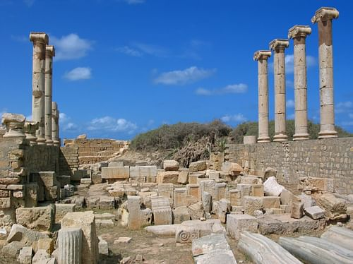 Old Forum of Leptis Magna (by Witold Ryka, Copyright)