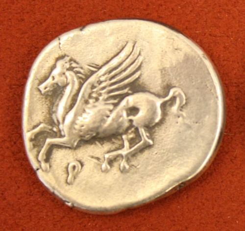 Pegasus, Corinthian Silver Stater (by Mark Cartwright, CC BY-NC-SA)