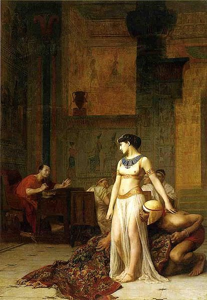 Was julius caesar married to cleopatra