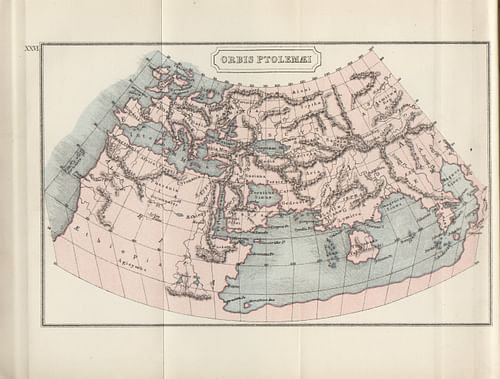 Map of the Ptolemaic World (by J M Dent (1912), Public Domain)