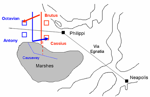 1st Battle of Philippi 42 BCE