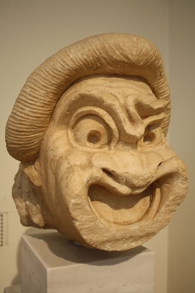 Greek Marble Comedy Mask