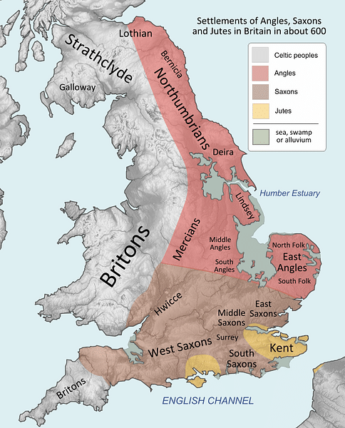 why did the anglo saxons invade britain