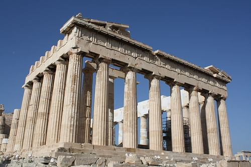 Parthenon, East Facade (by Mark Cartwright, CC BY-NC-SA)