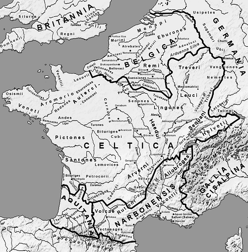 Map of Gaul (by Feitscherg, CC BY-SA)