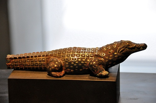 Sobek Ancient Egyptian Crocodile God Of The Nile Bronzed Finish Statue