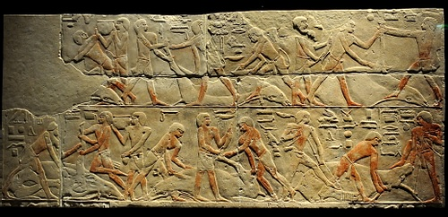 Cattle Butchering Scene from Saqqara