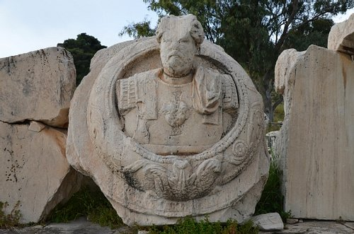 Cuirassed Bust of a Roman Emperor from Eleusis