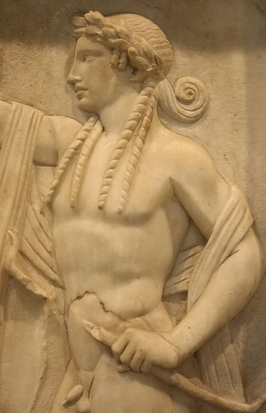 Apollo Marble Relief (by Mark Cartwright)