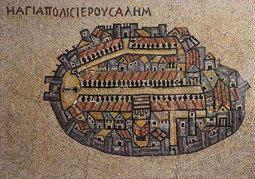 Reproduction of  Madaba Mosaic Map
