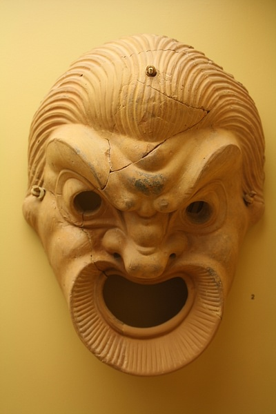 Greek Terracotta Comedy Mask (by Mark Cartwright, CC BY-NC-SA)
