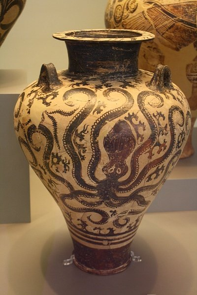 Mycenaean Marine Style Amphora Illustration Ancient