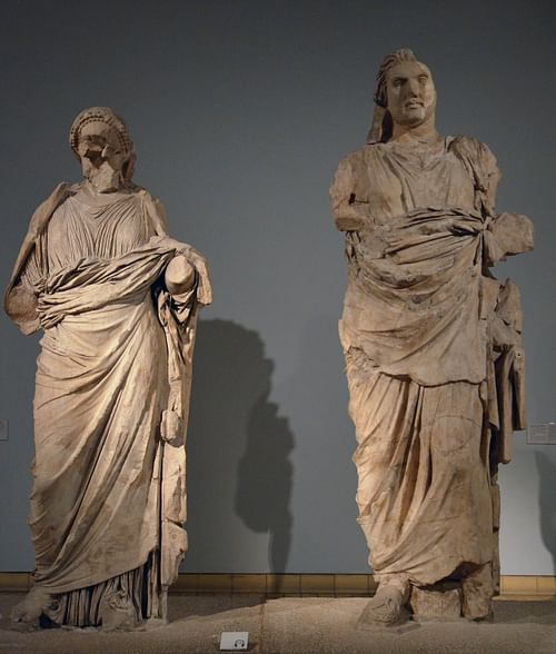 Colossal Statues of Mausolus and Artemisia II