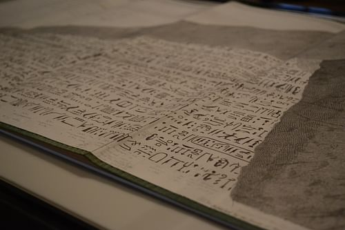Champollion's notes from the Rosetta Stone