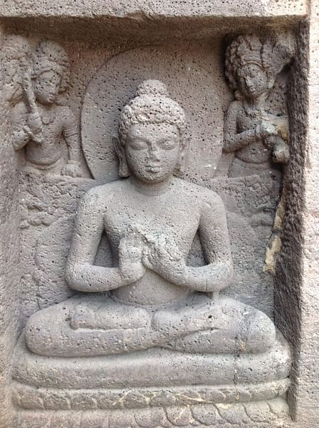 Seated Buddha Figure Displaying Dharmachakra Mudra