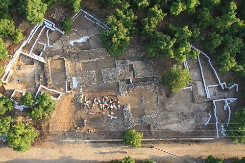 Overhead shot of Tel Kabri