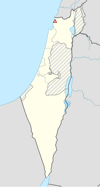 Tel Kabri location within Israel