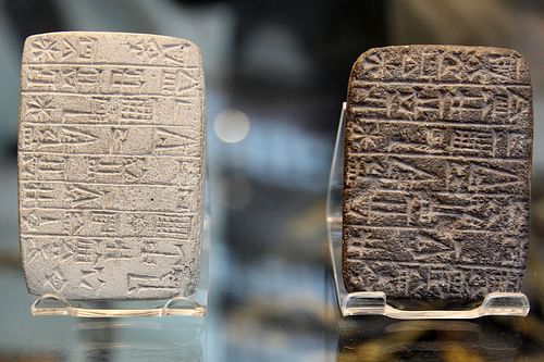 Cuneiform Tablets in Sumerian (by David Morgan-Mar)