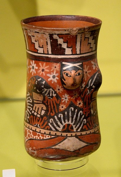 Nazca Vase wtih Cross-legged Male