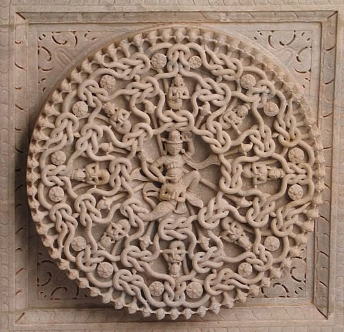 Karma, Ceiling Sculpture, Ranakpur (by Shakti)