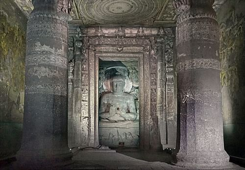 Buddha Sculpture in Ajanta