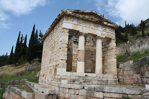 Treasury of The Athenians, Delphi