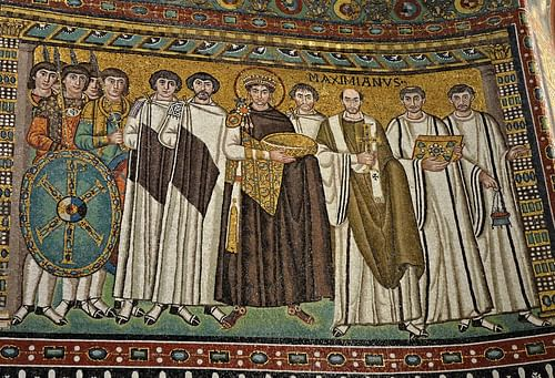 Emperor Justinian & His Court (by Carole Raddato)