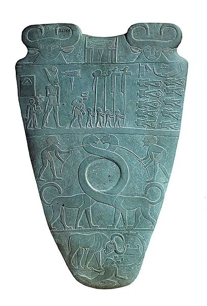 Serpopards, Narmer Palette