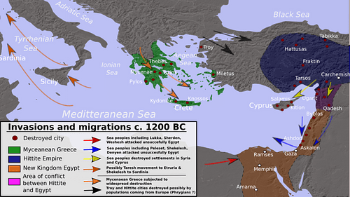 Bronze Age Mediterranean Invasions & Migrations (by Alexikoua, CC BY-SA)