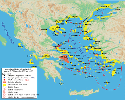 Ancient Greece Map With Cities.Delian League Ancient History Encyclopedia