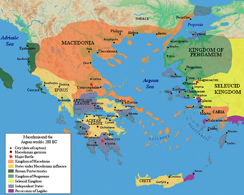 Achaean League c. 200 BCE (by Raymond Palmer)