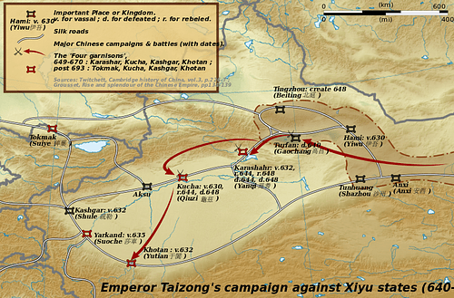 Taizong's Campaigns Against the Xiyu States