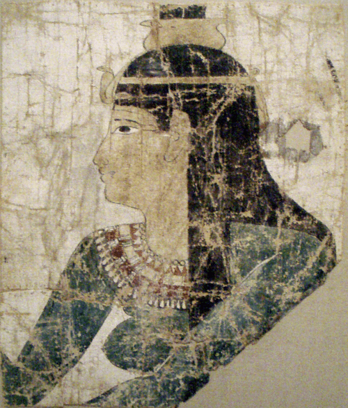 Nephthys on Painted Linen