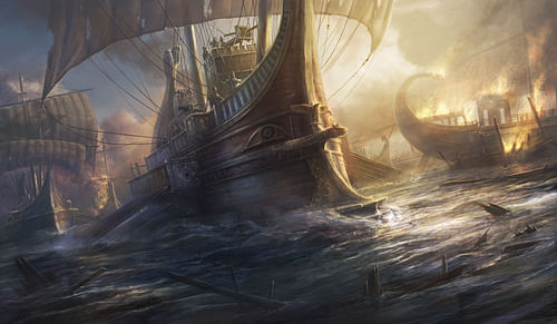 Greek Trireme [Artist's Impression] (by The Creative Assembly, Copyright)