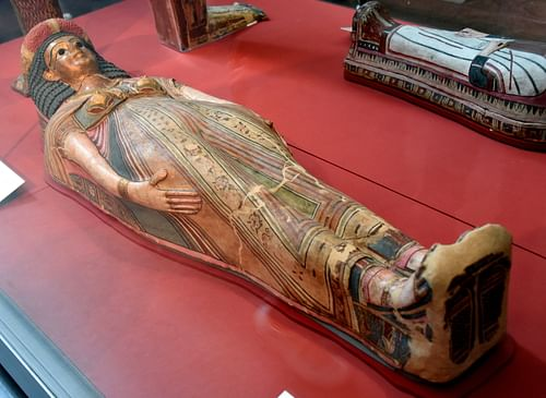 Painted & Gilded Mummy Case of an Unamed Woman