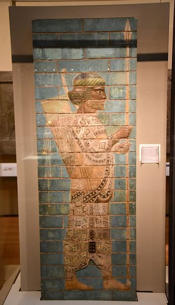 Glazed Brick Guardsman from Susa, Iran