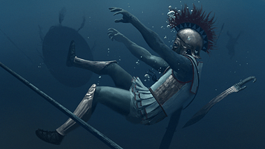 Greek Hoplite Drowning (by The Creative Assembly, Copyright)
