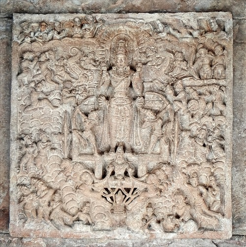 Relief Sculpture of Surya in Virupaksha Temple, Pattadakal