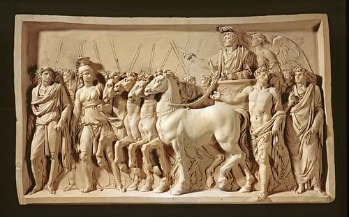 Triumph of Titus (by Jean-Guillaume Moitte (Artist), CC BY)