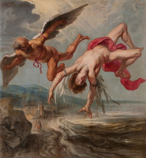 Daedalus & Icarus (by Jacob Peter Gowy, Public Domain)