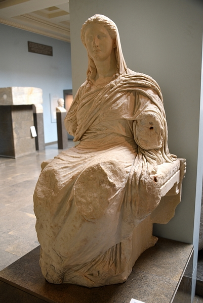 Seated Demeter Statue