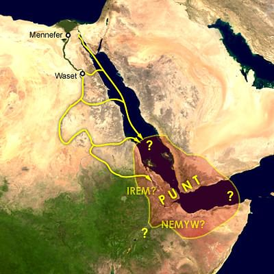 Supposed Location of the Land of Punt (by Cush, Public Domain)