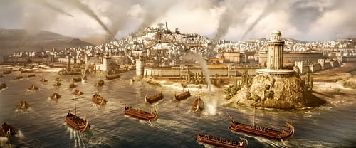 Roman Naval Attack on Carthage (by The Creative Assembly, Copyright)