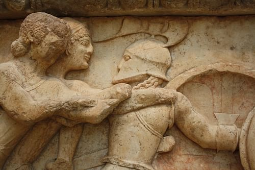 Gods Fighting Giants, Delphi (by Mark Cartwright)