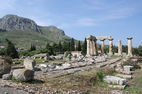 Temple of Apollo, Corinth (by Mark Cartwright, CC BY-NC-SA)