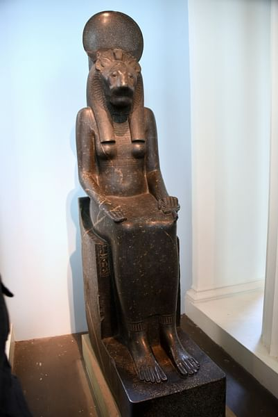 Statue of a Sitting figure of Goddess Sekhmet