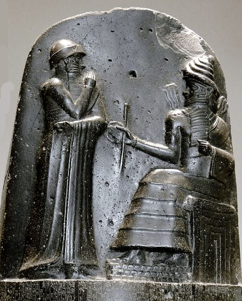 Hammurabi and Shamash (by Mbzt)