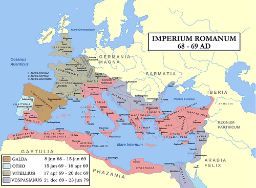 Map: Year of the Four Emperors