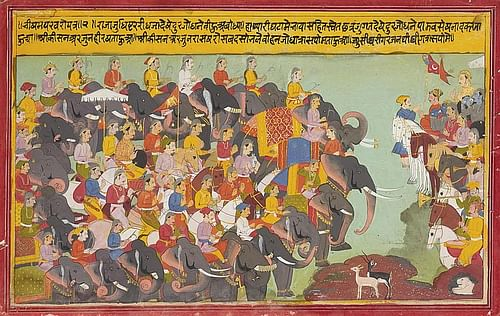 The Kurukshetra War (by Unknown Artist, Public Domain)